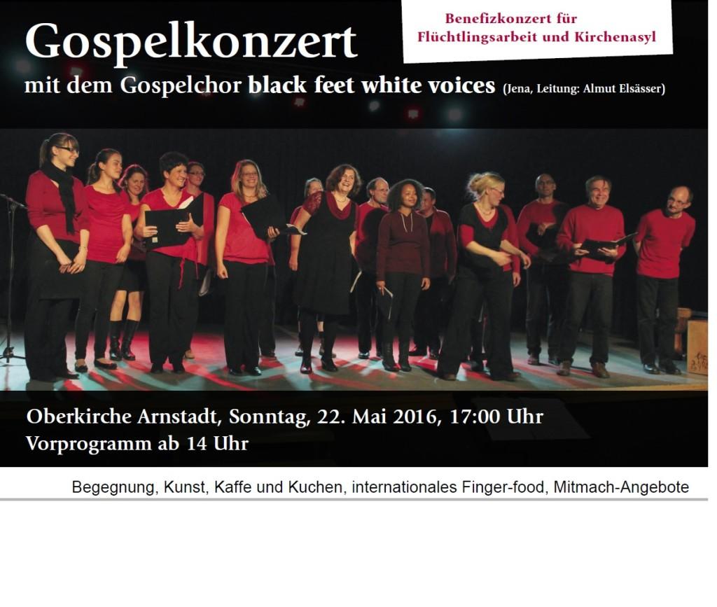 Gospelkonzert Arnstadt Benefiz
