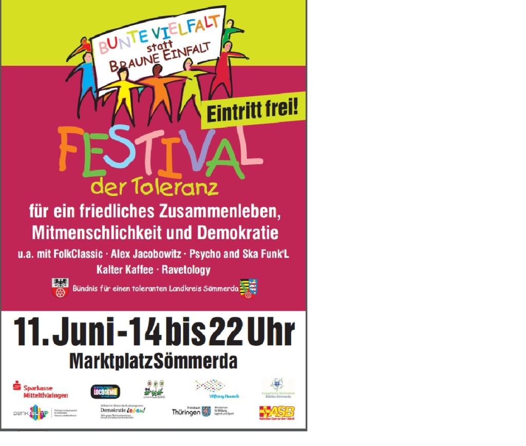Plakat Festival der Toleranz